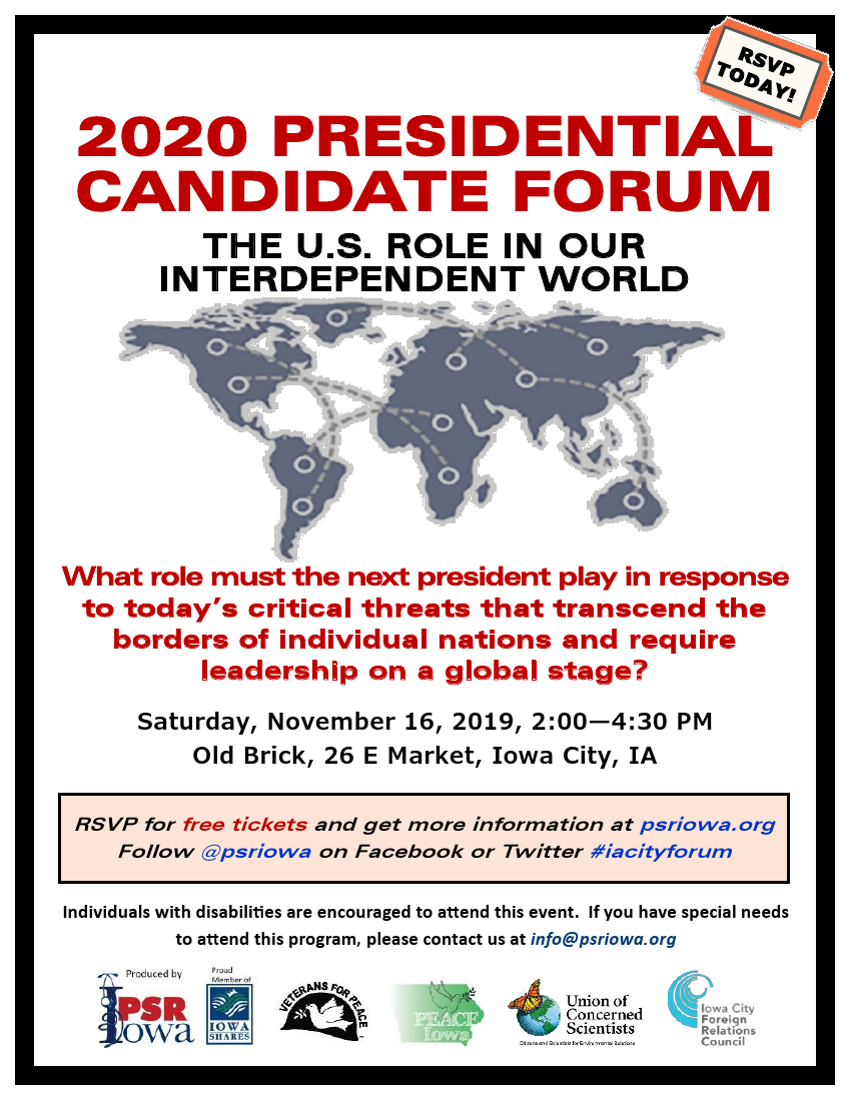 November 16 Candidate Forum