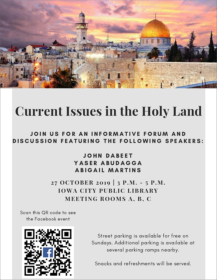 Holy Land event